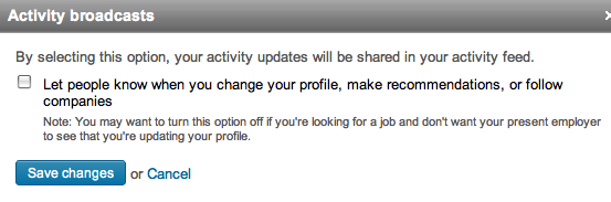 LinkedIn Activity Updates