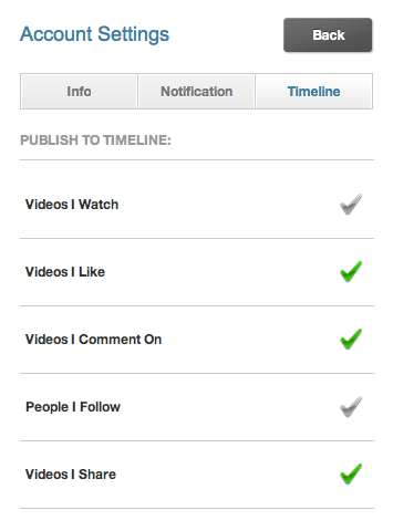 Viddy - Videos I watch Privacy Setting
