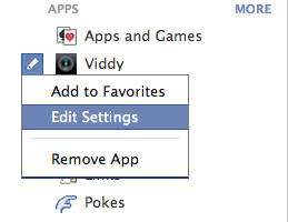 Viddy Sharing Settings