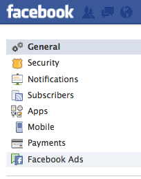 Account Settings - Facebook Ads