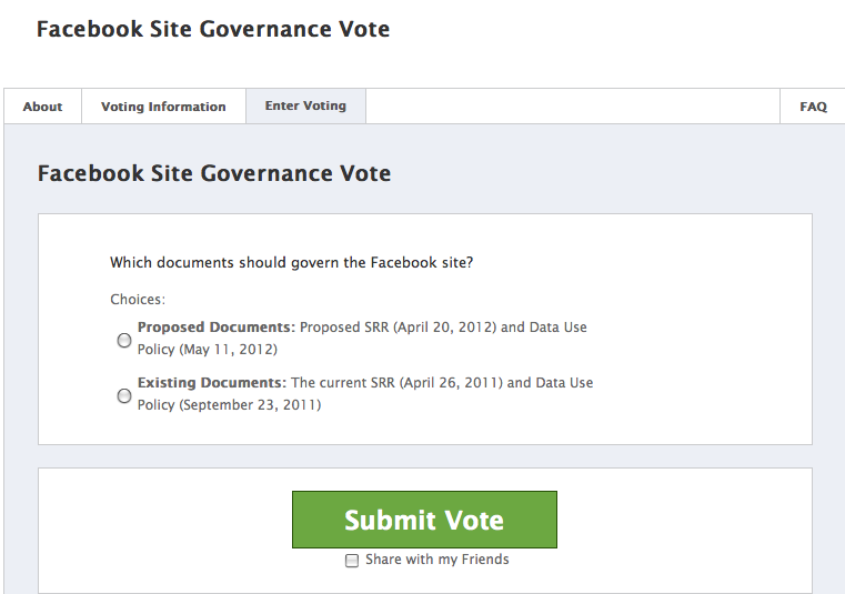 Facebook Governance Vote