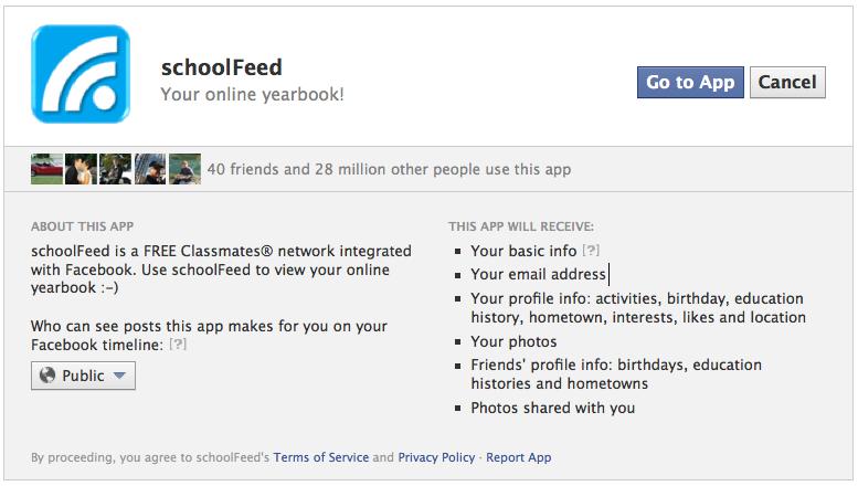 SchoolFeed Virus Classmates.com